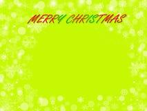 Abstrakter Weihnachtsgrünhintergrund Lizenzfreie Abbildung