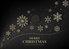 Abstrakter Weihnachtsgruß Stockfotos