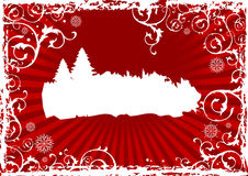 Abstrakter Weihnachtshintergrund Lizenzfreie Stockfotografie