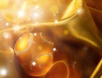 Abstrakter Weihnachtshintergrund auf Luxusstoff Lizenzfreies Stockfoto