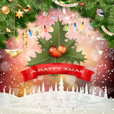 Abstrakter Weihnachtshintergrund ENV 10 Lizenzfreies Stockfoto