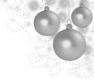 Abstrakter Weihnachtshintergrund mit Kugeln Stockfoto