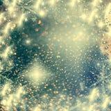 abstrakter Weihnachtshintergrund mit Lichterkette Lizenzfreie Stockfotografie
