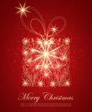 Abstrakter Weihnachtspräsentkarton Lizenzfreie Stockfotos