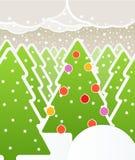 Abstrakter Weihnachtswald Stockbild