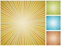 Abstrakter Weinlese starburst Hintergrund. stock abbildung