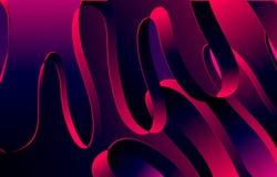 Abstrakter Wellenbandhintergrund, Veilchen, blaue rosa Farbe stock abbildung