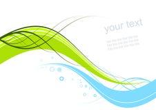 Abstrakter wellenförmiger Hintergrund Lizenzfreie Stockbilder
