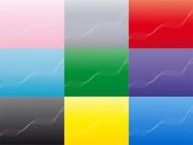 Abstrakter wellenförmiger Hintergrund in einem multi Farbensatz Stockfotos