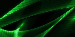 Abstrakter wellenförmiger Hintergrund im Grün Stockbilder