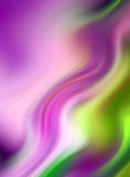 Abstrakter wellenförmiger Hintergrund in Purpurrotem, in rosafarbenem und in Grünem Stockbild