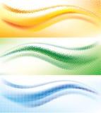 Abstrakter Wellenhalbtonhintergrund Stockbild