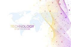 Abstrakter Wellenhintergrund Geometrische Schablone für Ihre Designbroschüre, Flieger, Bericht, Website, Fahne Vektor lizenzfreie abbildung