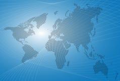 Abstrakter Weltkarten-Hintergrund Lizenzfreie Stockfotografie