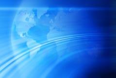Abstrakter Weltkarten-Kugel-Hintergrund Lizenzfreie Stockfotos