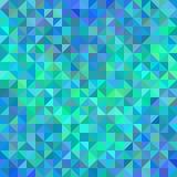 Abstrakter Winkelhintergrund im Blau und im Türkis Stockfotografie