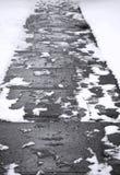Abstrakter Winter-Bürgersteig Stockbild