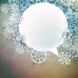Abstrakter Winterentwurf mit Schneeflocken. ENV 10 Lizenzfreie Stockfotografie