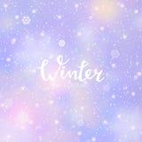 Abstrakter Winterhintergrund Lizenzfreie Stockfotografie