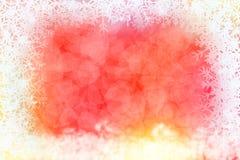 Abstrakter Winterhintergrund mit Schneeflockenrahmen Lizenzfreie Stockbilder
