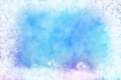 Abstrakter Winterhintergrund mit Schneeflockenrahmen Lizenzfreie Stockfotografie