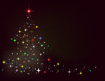 Abstrakter Winterhintergrund mit Sternen Lizenzfreies Stockfoto