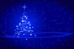 Abstrakter Winterweihnachtsblauhintergrund Lizenzfreies Stockfoto