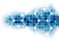 Abstrakter wissenschaftlicher zukünftiger Technologiehintergrund Geometriepolygon Lizenzfreies Stockfoto