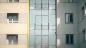 Abstrakter Wohngebäudeeinspieler stock video footage