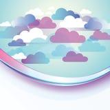 Abstrakter Wolken-Hintergrund lizenzfreie abbildung