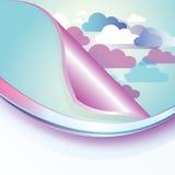 Abstrakter Wolken-Hintergrund stock abbildung