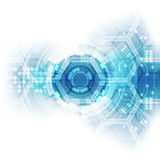 Abstrakter zukünftiger Hallogeschwindigkeitstechnologiehintergrund, Vektorillustration lizenzfreie abbildung