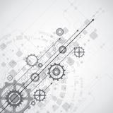 Abstrakter zukünftiger Technologiekonzepthintergrund, Vektor Stockfoto