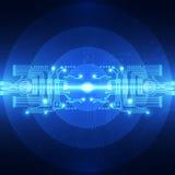 Abstrakter zukünftiger Technologiekonzepthintergrund, Vektorillustration Lizenzfreie Stockfotos