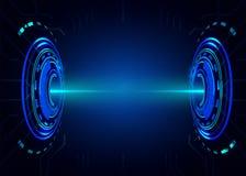 Abstrakter zukünftiger Technologievisionsdesigninnovations-Konzepthintergrund Stockfoto