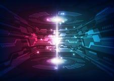 Abstrakter zukünftiger Technologiekonzepthintergrund, Vektorillustration Lizenzfreie Stockfotografie