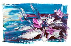 Abstraktes Ölgemälde der Blume Stockbilder