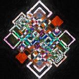 Abstraktes Ölgemälde der Geometrie Stockbild