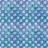 Abstraktes Überschneidungsnahtloses Muster der kreise Stockbild