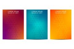 Abstraktes Abdeckungs- oder Plakatdesign, mit futuristischem sechseckigem Hintergrund, Vektorillustration Lizenzfreies Stockfoto