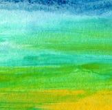 Abstraktes Acryl, Aquarell malte Hintergrund Stockfotos