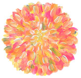 Abstraktes Acryl des Kreises und Aquarell gemalter Hintergrund Stockbild