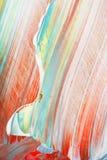 Abstraktes Acryl gemalte mehrfarbige Nahaufnahme Stockfoto