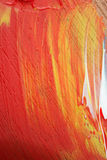 Abstraktes Acryl gemalte mehrfarbige Nahaufnahme Stockfotos