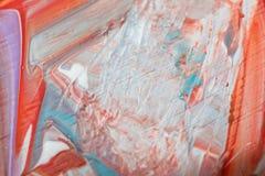 Abstraktes Acryl gemalte mehrfarbige Nahaufnahme Lizenzfreie Stockfotos