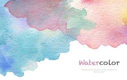 Abstraktes Acryl und Aquarell bürsten Anschläge gemalten Hintergrund Stockbild
