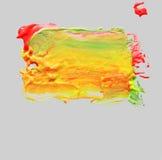 Abstraktes Acryl und Aquarell bürsten Anschläge gemalten Hintergrund Lizenzfreie Stockbilder