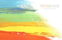 Abstraktes Acryl und Aquarell bürsten Anschlag gemalten Hintergrund Lizenzfreie Stockfotos