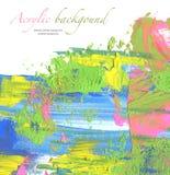 Abstraktes Acryl und Aquarell gemalter Hintergrund Stockfotografie