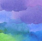 Abstraktes Acryl und Aquarell gemalter Hintergrund Stockfoto